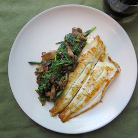 Food & Wine: Crispy Flounder and Sautéed Mushrooms with Cabernet Franc