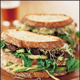 Food & Wine: Roasted Portobello and Vegetable Club Sandwiches