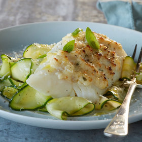 Food & Wine: Alaska Cod Parmesan with Zucchini Noodles