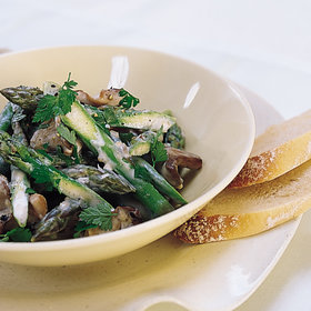 Food & Wine: Asparagus and Oyster Mushroom Fricassee