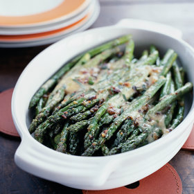 Food & Wine: Asparagus Glazed with White Truffle Fondue