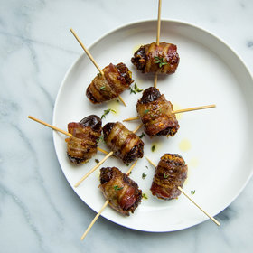 mkgalleryamp; Wine: Bacon-Wrapped Dates