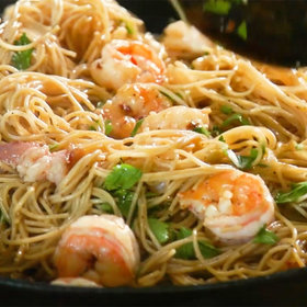Food & Wine: Upgrade Your Pasta Salad with Bacon-Wrapped Shrimp