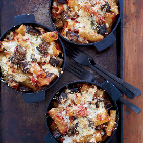 Food & Wine: Baked Rigatoni with Eggplant, Tomatoes and Ricotta