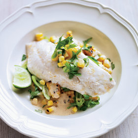 Food & Wine: Chorizo Oil-Poached Red Snapper with Grilled Corn Salad