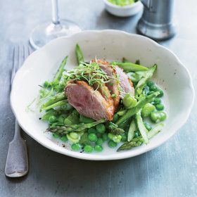 Food & Wine: Salt-Cured Duck Breasts with Fava Beans & Sweet Peas
