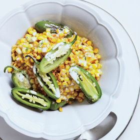 Food & Wine: Skillet Corn and Peppers with Cilantro-Lime Mayo