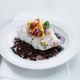 Food & Wine: Striped Bass with Mango & Pickled Ginger Salad