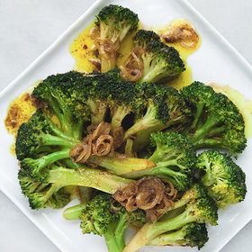 mkgalleryamp; Wine: Curried Brown Butter Broccoli and Shallots