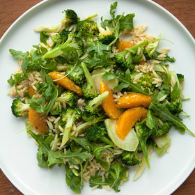 mkgalleryamp; Wine: Broccoli-Orzo Salad with Orange and Arugula