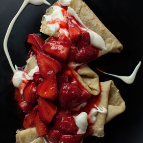 Food & Wine: Gluten-Free Crêpes with Strawberries and Mascarpone