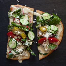 Food & Wine: Greek Salad Flatbreads