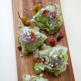 Food & Wine: Greek Wedge Salad with Creamy Feta Dressing