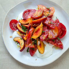 Food & Wine: Heirloom Tomato and Nectarine Salad with Whipped Feta