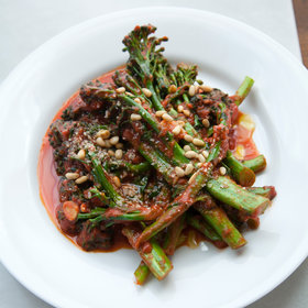 Food & Wine: Orange-Tomato Sauce Broccolini