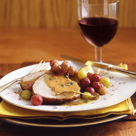 Food & Wine: Braised Pork with Pearl Onions and Grapes