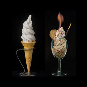 Food & Wine: Japan's Non-Melting Soft Serve Ice Cream Can Even Be Lit on Fire