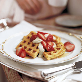 mkgalleryamp; Wine: Buttermilk Waffles with Fresh Strawberries