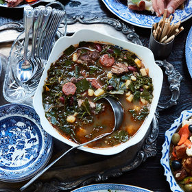 Food & Wine: Caldo Verde with Beef Shank and Sausage