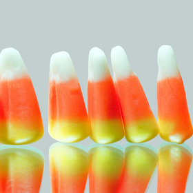 Food & Wine: This Candy Corn Domino Rally Finally Puts the Controversial Halloween Candy to Good Use