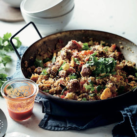 mkgalleryamp; Wine: Cauliflower Fried Rice with Sausage