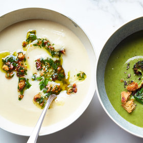 Food & Wine: Celery Root Bisque with Walnut-Parsley Gremolata