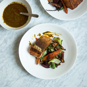 Food & Wine: Charmoula-Spiced Salmon with Za'atar Vegetables