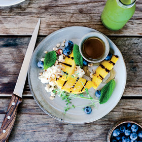 Food & Wine: Charred Mangoes with Ricotta, Honey and Caramelized Lime
