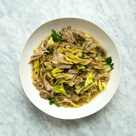 Food & Wine: Chicken-Barley Soup with Herbs and Egg Noodles