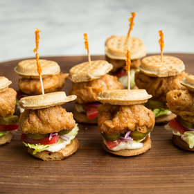 Food & Wine: Chicken Waffle Sliders