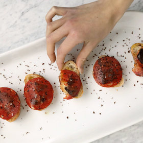 Food & Wine: Chorizo and Chile-Chocolate Toasts
