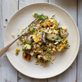 Food & Wine: Corn-and-Zucchini Orzo Salad with Goat Cheese