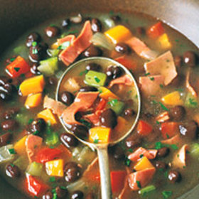 Food & Wine: Black-Bean and Corned-Beef Soup