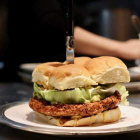 Food & Wine: The Giant Fried Chicken Sandwich NYC's Chefs Are Eating