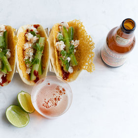 mkgalleryamp; Wine: Crab and Crispy Cheese Tacos