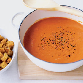 Food & Wine: Creamy Tomato Soup with Buttery Croutons