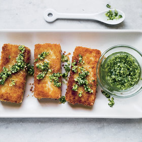 Food & Wine: Crispy Tofu Steaks with Ginger Vinaigrette