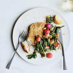 Food & Wine: Crusted Hake with Radishes and Turnips