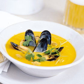mkgalleryamp; Wine: Curried Mussel and Butternut Squash Soup