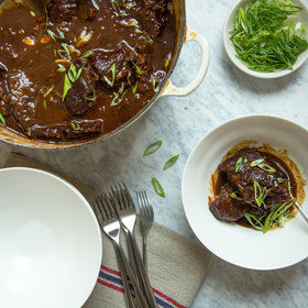 Food & Wine: Dried-Cherry-and-Miso-Braised Short Ribs
