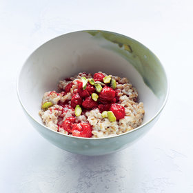 Food & Wine: Farro Breakfast Porridge with Raspberries