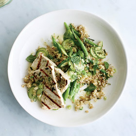 Food & Wine: Freekeh with Grilled Tofu and Miso-Lime Dressing
