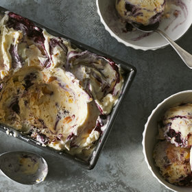 Food & Wine: Peach-Blueberry Ice Cream