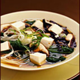 Food & Wine: Warm Soba in Broth with Spinach and Tofu