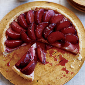 Food & Wine: Poached Plum Tart