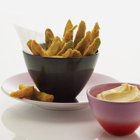 Food & Wine: Fried Pickles with Spicy Mayonnaise