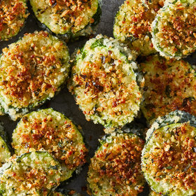 Food & Wine: Parmesan-Panko-Crusted Baked Zucchini
