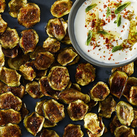 mkgalleryamp; Wine: Smoky Baked Zucchini Chips with Whipped Feta