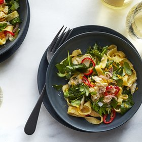 Food & Wine: Tagliatelle with Crab, Pea Shoots, and Herbs