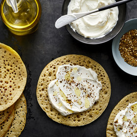 Food & Wine: Lachuch with Labneh and Za'atar
